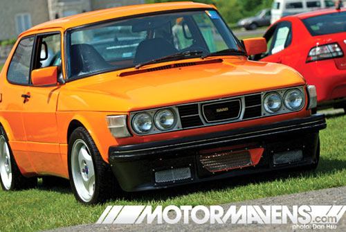 John Webber orange 1978 Saab 99 Turbo